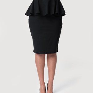 Dresses & Skirts - Paper scissors yellow pencil skirt
